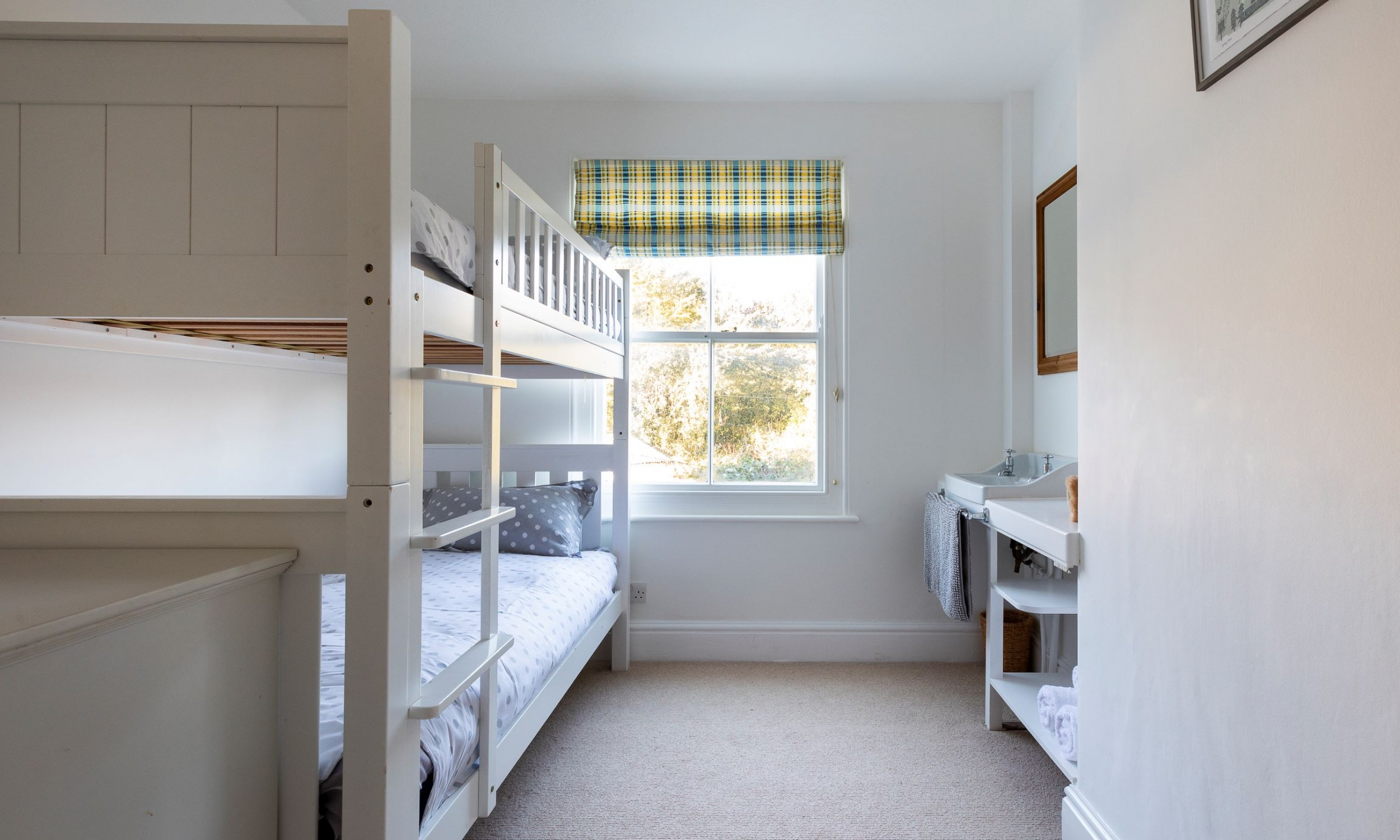 Bedroom three full size bunk beds